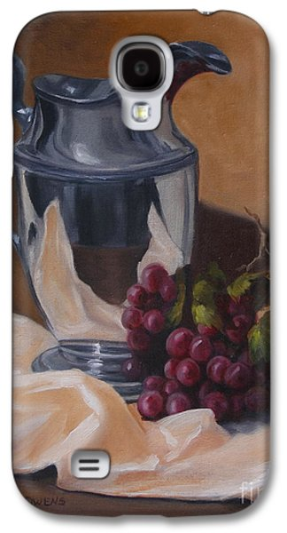 Old Pitcher Paintings Galaxy S4 Cases - Water Pitcher With Fruit Galaxy S4 Case by Lisa Phillips Owens