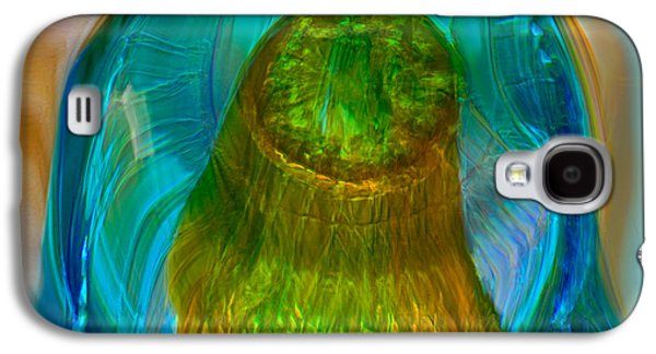 Blue Abstracts Glass Galaxy S4 Cases - Water Realm Galaxy S4 Case by Omaste Witkowski