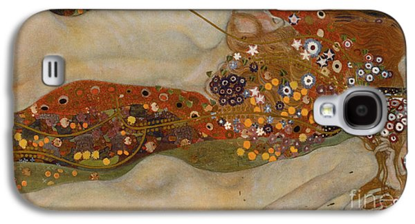 Alluring Paintings Galaxy S4 Cases - Water Serpents II Galaxy S4 Case by Gustav Klimt