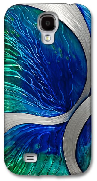 Blue Abstracts Sculptures Galaxy S4 Cases - Water Spout Galaxy S4 Case by Rick Roth