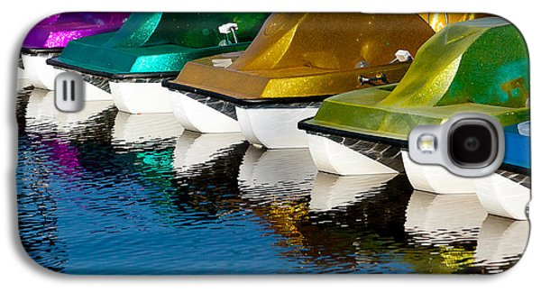 Boats In Reflecting Water Galaxy S4 Cases - Water Toys Galaxy S4 Case by Art Block Collections
