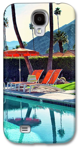 Lounge Galaxy S4 Cases - WATER WAITING Palm Springs Galaxy S4 Case by William Dey