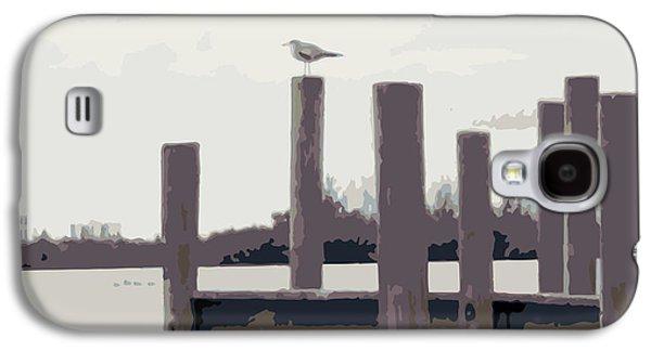 Abstract Digital Art Galaxy S4 Cases - Waterbirds2 Galaxy S4 Case by Megan Dirsa-DuBois