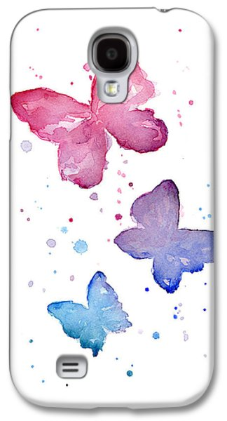 Girl Galaxy S4 Cases - Watercolor Butterflies Galaxy S4 Case by Olga Shvartsur