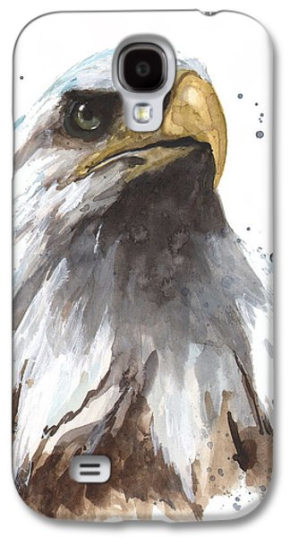 Eagle Paintings Galaxy S4 Cases - Watercolor Eagle Galaxy S4 Case by Alison Fennell