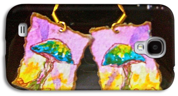 Girl Jewelry Galaxy S4 Cases - Watercolor Earrings Vibrant Mushrooms Galaxy S4 Case by Beverley Harper Tinsley