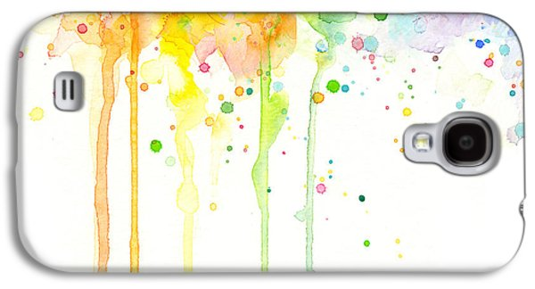 Pride Galaxy S4 Cases - Watercolor Rainbow Galaxy S4 Case by Olga Shvartsur