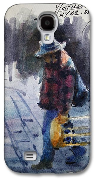 Chair Drawings Galaxy S4 Cases - Watercolor Sketch Galaxy S4 Case by Ylli Haruni