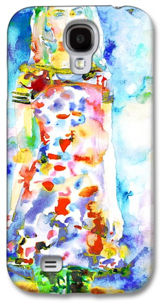 Full Skirt Galaxy S4 Cases - Watercolor Woman.18 Galaxy S4 Case by Fabrizio Cassetta