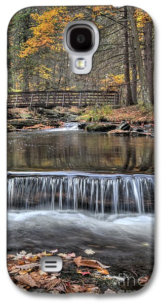 Autumn Leaf On Water Galaxy S4 Cases - Waterfall - George Childs State Park Galaxy S4 Case by Paul Ward