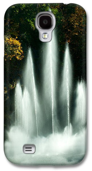 Garden Scene Galaxy S4 Cases - Waterfall In A Garden, Butchart Galaxy S4 Case by Panoramic Images