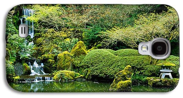 Garden Scene Galaxy S4 Cases - Waterfall In A Garden, Japanese Garden Galaxy S4 Case by Panoramic Images
