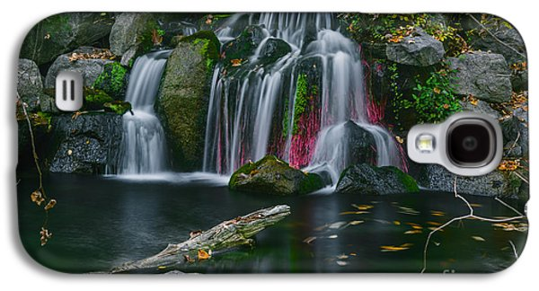 Nature Center Pond Galaxy S4 Cases - Waterfall in Boise Galaxy S4 Case by Vishwanath Bhat