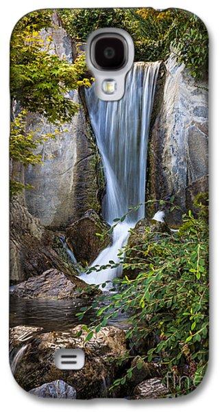 Garden Photographs Galaxy S4 Cases - Waterfall in Japanese garden Galaxy S4 Case by Elena Elisseeva