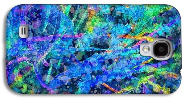 Splashy Digital Art Galaxy S4 Cases - Waterfall Galaxy S4 Case by Nancy Aikins
