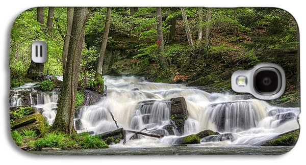 Waterscape Pyrography Galaxy S4 Cases - Waterfall Galaxy S4 Case by Steffen Gierok