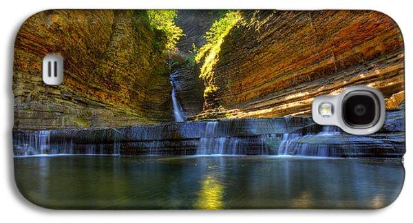 Landmarks Photographs Galaxy S4 Cases - Waterfalls at Watkins Glen State Park Galaxy S4 Case by Wayne Moran