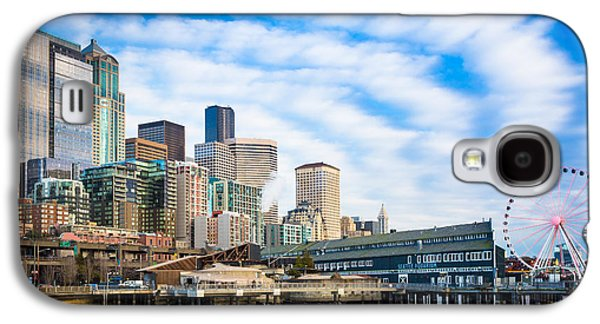 Landmarks Photographs Galaxy S4 Cases - Waterfront Skyline Galaxy S4 Case by Inge Johnsson