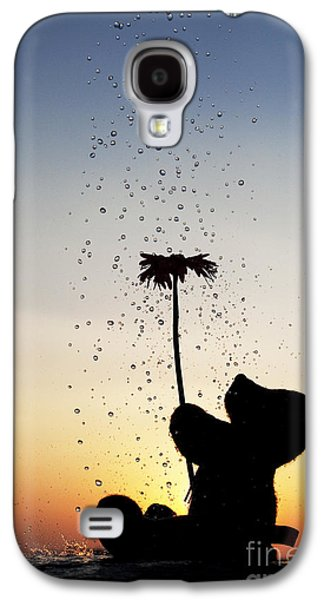 Water Play Galaxy S4 Cases - Watering a flower Galaxy S4 Case by Tim Gainey