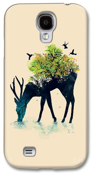 Surrealism Galaxy S4 Cases - Watering A life into itself Galaxy S4 Case by Budi Satria Kwan