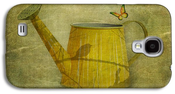Indoor Still Life Galaxy S4 Cases - Watering Can with Texture Galaxy S4 Case by Tom Mc Nemar