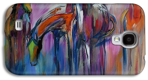 """abstract Art"" Galaxy S4 Cases - Watering Hole Galaxy S4 Case by Cher Devereaux"
