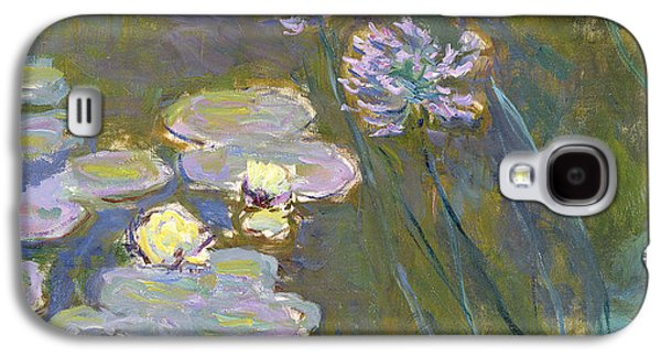 Reproduction Galaxy S4 Cases - Waterlilies and Agapanthus Galaxy S4 Case by Claude Monet
