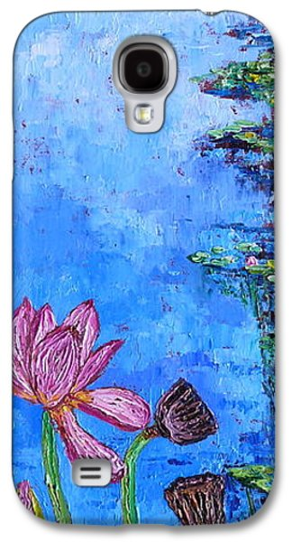 Waterscape Galaxy S4 Cases - Waterlily Stages Galaxy S4 Case by Linda J Bean