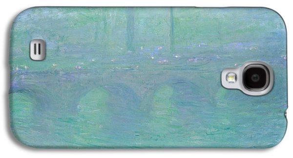 Purple Robe Galaxy S4 Cases - Waterloo Bridge at Dusk Galaxy S4 Case by Claude Monet