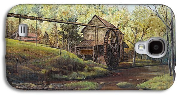 Grist Mill Paintings Galaxy S4 Cases - Watermill at Daybreak  Galaxy S4 Case by Mary Ellen Anderson