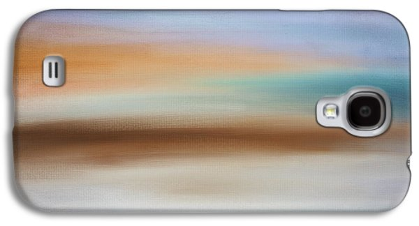 Sunset Abstract Digital Galaxy S4 Cases - Waters Edge Galaxy S4 Case by Lourry Legarde
