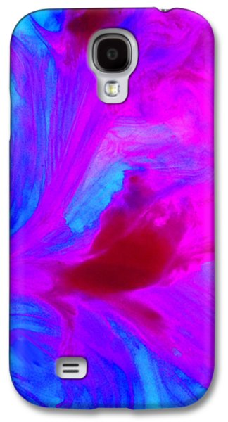 Nature Abstract Galaxy S4 Cases - Waterscape in Blue and Pink Galaxy S4 Case by Karol Blumenthal