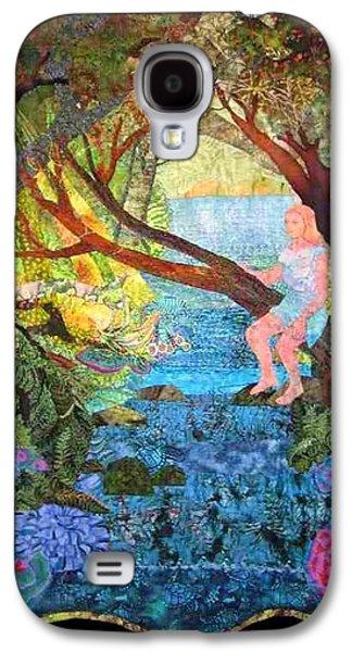Mystical Tapestries - Textiles Galaxy S4 Cases - Watersprite Galaxy S4 Case by Carol Bridges