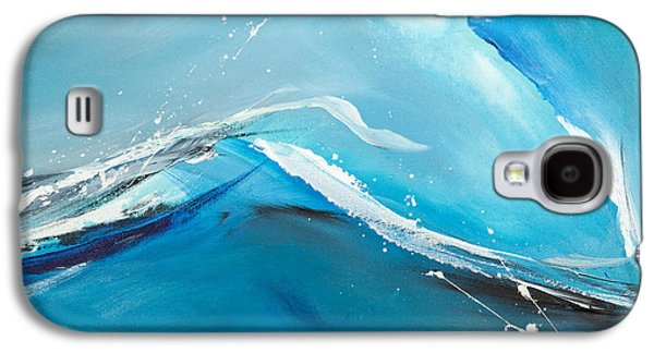 Abstract Expression Galaxy S4 Cases - Wave Action Galaxy S4 Case by Michelle Wiarda