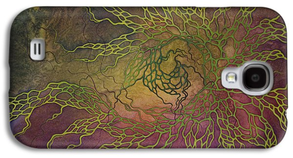 Cosmic Space Paintings Galaxy S4 Cases - Wave Galaxy S4 Case by Ellen Starr