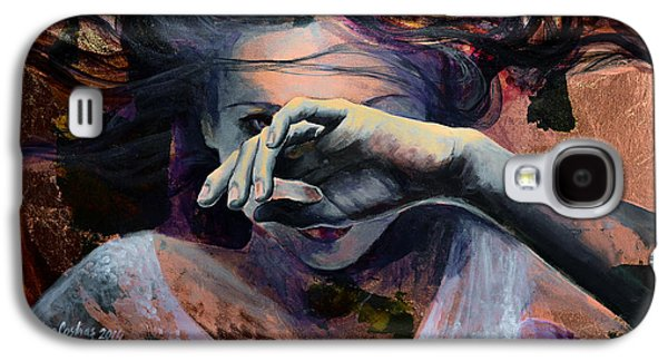 Girl Paintings Galaxy S4 Cases - Wavering... Galaxy S4 Case by Dorina  Costras