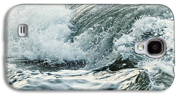 Beach Photographs Galaxy S4 Cases - Waves in stormy ocean Galaxy S4 Case by Elena Elisseeva