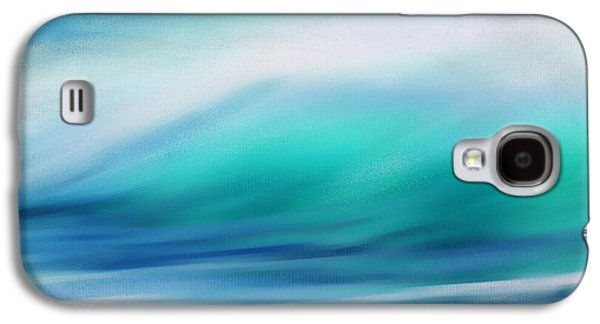 Sunset Abstract Digital Galaxy S4 Cases - Waves Galaxy S4 Case by Lourry Legarde
