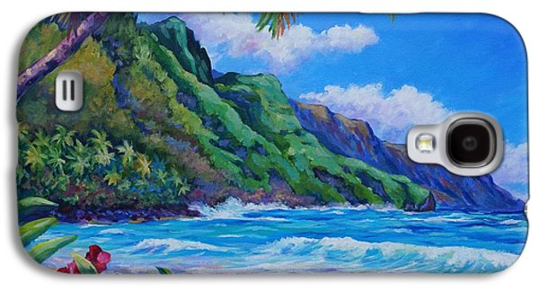 Recently Sold -  - Botanical Galaxy S4 Cases - Waves on Na Pali Shore Galaxy S4 Case by John Clark