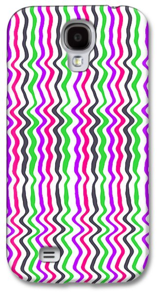 Bold Style Galaxy S4 Cases - Wavy Stripe Galaxy S4 Case by Louisa Hereford