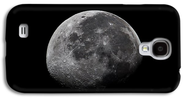 Moonlit Night Photographs Galaxy S4 Cases - Waxing Moon Galaxy S4 Case by Nila Newsom