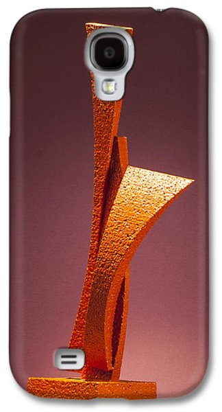 Colorful Abstract Sculptures Galaxy S4 Cases - Way Word Son Galaxy S4 Case by Richard Arfsten