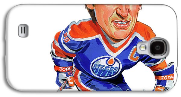 Paintings Galaxy S4 Cases - Wayne Gretzky Galaxy S4 Case by Art