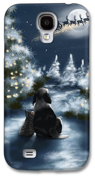 Snowy Night Night Galaxy S4 Cases - We are so good Galaxy S4 Case by Veronica Minozzi