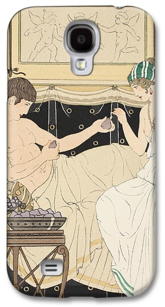 Grapes Art Deco Galaxy S4 Cases - We Gorged with Grapes and Figs Least Galaxy S4 Case by Joseph Kuhn-Regnier