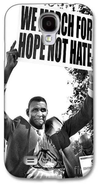 Black History Galaxy S4 Cases - We March For Hope Not Hate Galaxy S4 Case by Diane Diederich