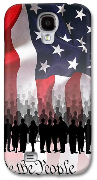 Government Mixed Media Galaxy S4 Cases - We The People . . . Galaxy S4 Case by Daniel Hagerman