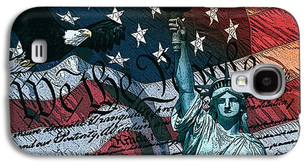 4th July Digital Galaxy S4 Cases - We The People Galaxy S4 Case by Dancin Artworks