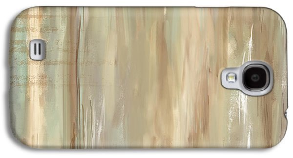 Beige Abstract Galaxy S4 Cases - Weathered Reminiscense Galaxy S4 Case by Lourry Legarde