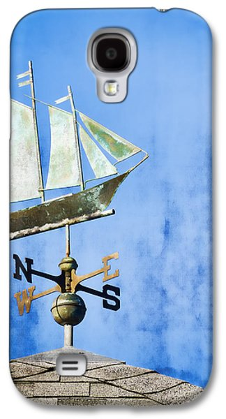 Weathervane Galaxy S4 Cases - Weathervane Clipper Ship Galaxy S4 Case by Carol Leigh